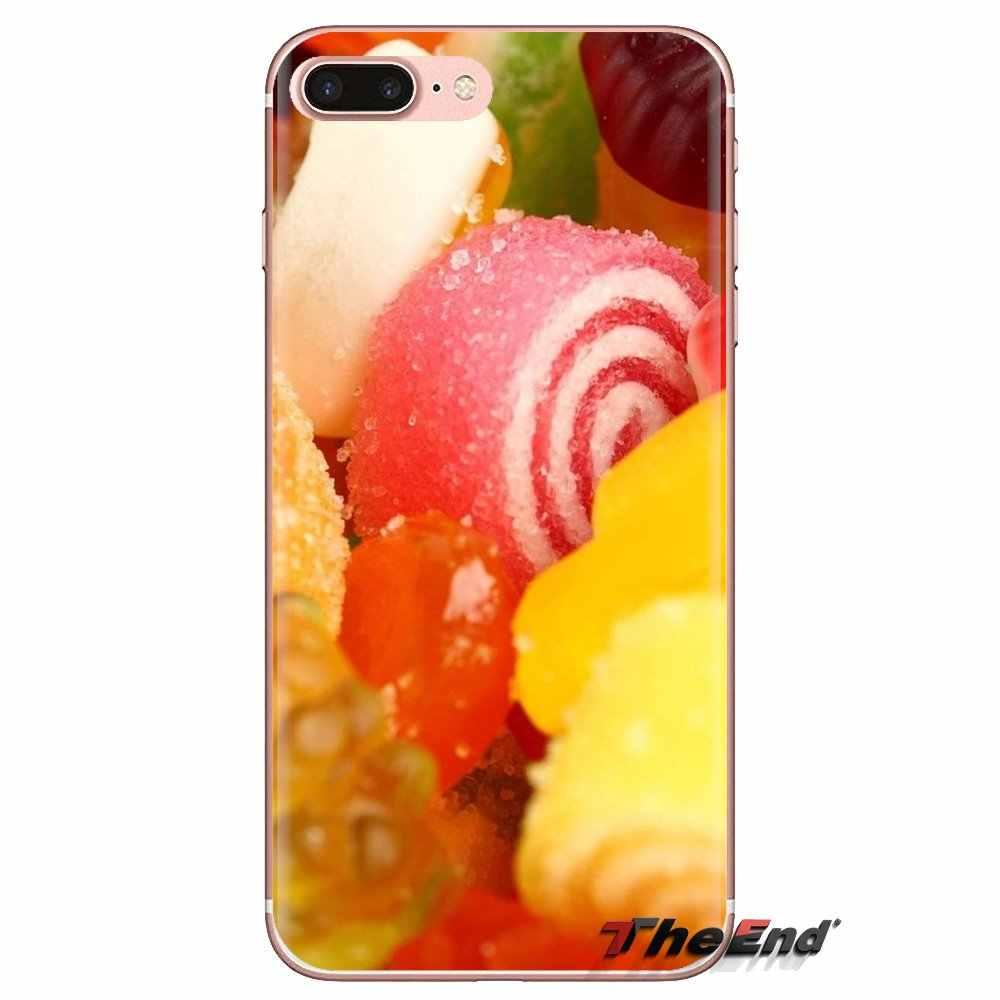 Dành cho HTC One U11 U12 X9 M7 M8 A9 M9 M10 E9 Plus Desire 630 530 626 628 816 820 830 Vỏ Bọc Thực Phẩm Giấy Dán Tường Mứt Cam