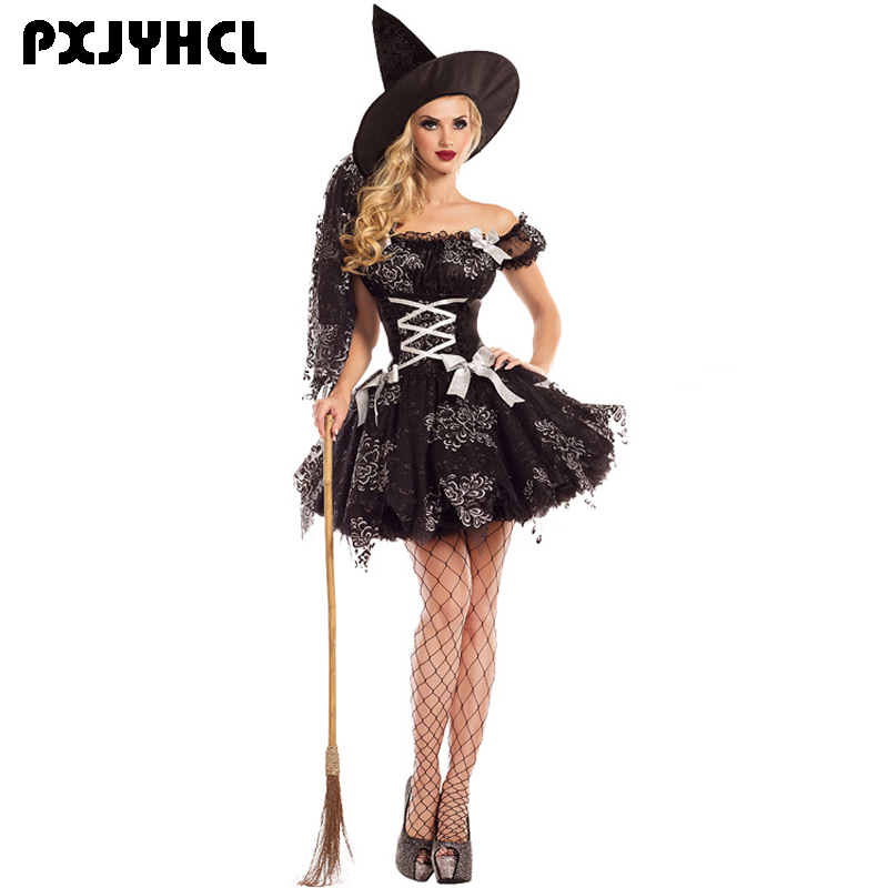 <font><b>Halloween</b></font> <font><b>Sexy</b></font> Women Short Dress Black Vampire Costume Clothing Evil Outfit <font><b>Adult</b></font> Anime <font><b>Witch</b></font> Party Terror Role Play Costumes image