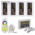 Mokungit 2.4G Milight Wifi LED Controller & 4-Zone RF Remote & 4Pcs RGBW RGB Single Color WW/CW CCT Dimmer Receiver & Holder Kit