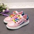 Новый дети квартиры обувь мальчиков обувь для девочек мода pu кожа детей кроссовки девушки парни breathbale повседневная кроссовки досуг обувь