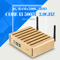 5Gen I3 5005U 4G RAM 500G HDD WIFI Nuc Windows 10 7 8 Mini PC Micro