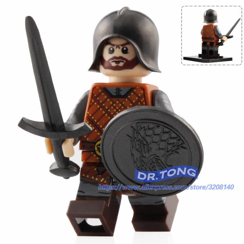 Single Sale Game of Thrones Eddard Stark Spear Sword Infantry Jory Cassel Ice and Fire Building Blocks Brick Toys Gift XP042-047