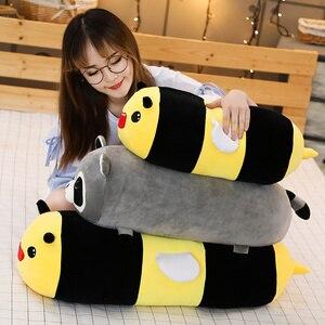 Image 3 - Joint Animal en peluche, joint Animal licorne raton laveur, joint, coussin pour dormir doux, poupées, jouets de dessin animé pour bébés, 50/60/80CM, 1 pièce