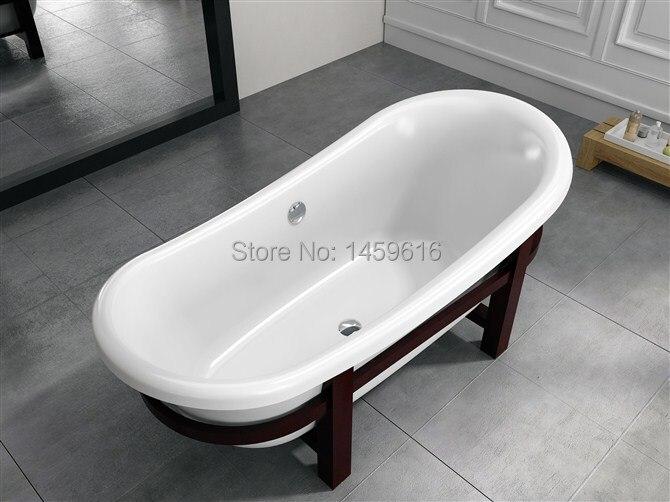все цены на 67' Sea Shipping Freestanding bathtub and Acrylic +ABS composite board Piscine Soaking Hot tub 6530C онлайн