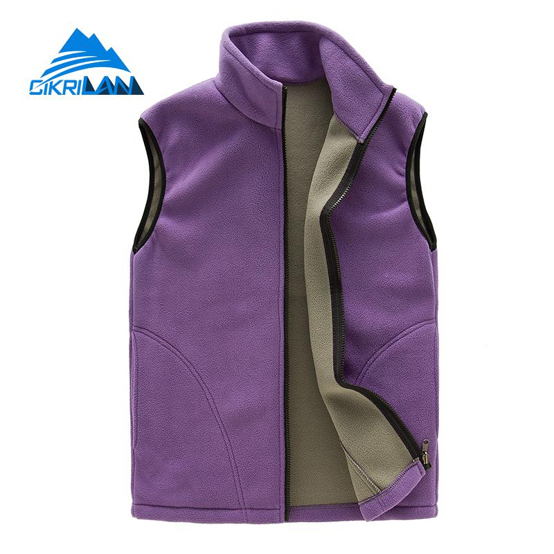 New Arrive Full Zip Sleeveless Fleece Vest Women Jacket Windbreaker Colete Tatico Hiking Camping Waistcoat Outdoor Sport Gilet