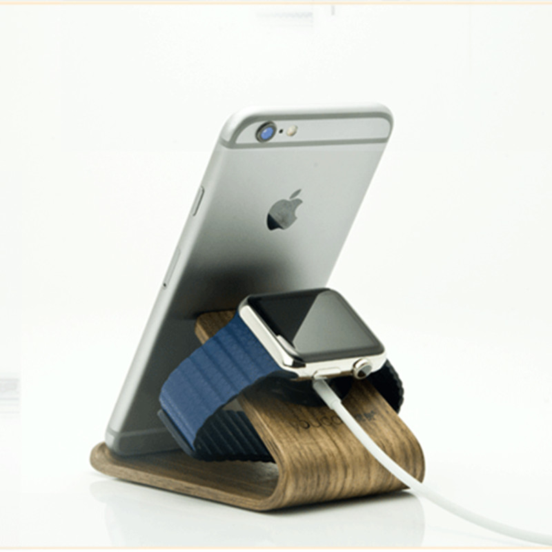 iMeaning Portable Phone Holder Nature Wood Desk