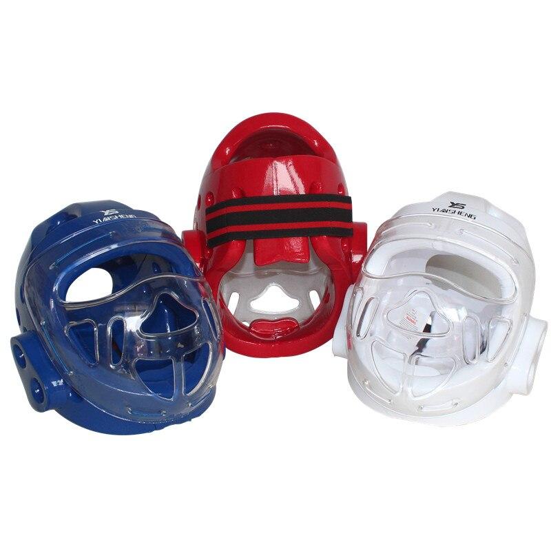f9912a37aa644 Proteção Da Cabeça Capacete Taekwondo Karate Dobok Kickboxing Sanda adulto  criança com máscara facial capacete ITF WTF Protetor Treinamento em Outros  ...