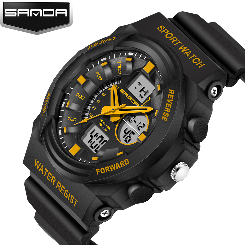 цены  2017 New Brand SANDA Fashion Watch Men Style Waterproof Sport Quartz Watches outdoor Men's Relogio Digital Watch Reloj Hombre