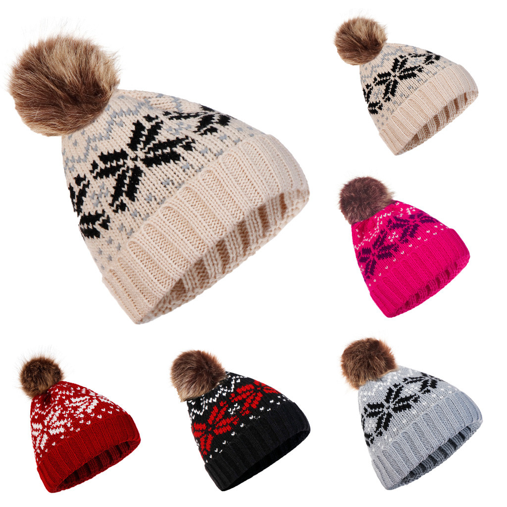 2019 Spring Hot Neck Scarf Warm Winter Hat Women Caps Girl Ski Hat   Skullies     Beanies   Pom Hats Balaclava Knitted Hat A30