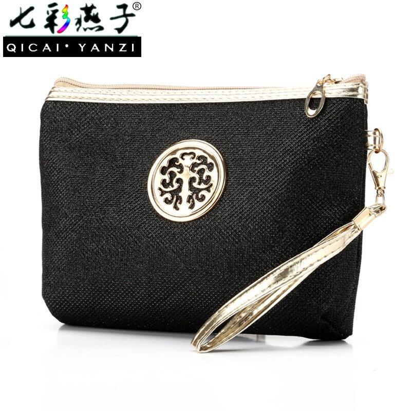 QICAI YANZI Women Casual Cosmetic Bags Multifunction Portable Travel Toiletry Organizer Case Clutch Makeup Pouch Wrist