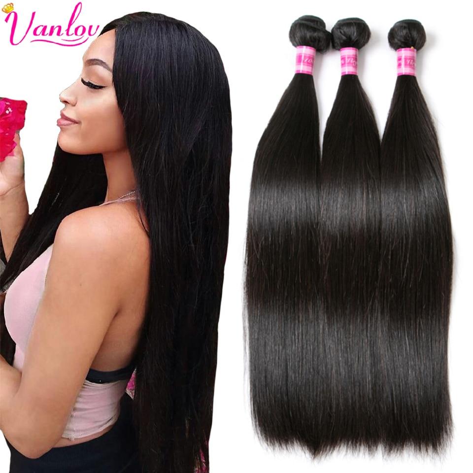 Vanlov Straight Hair Bundles Brazilian Hair Weave Bundles