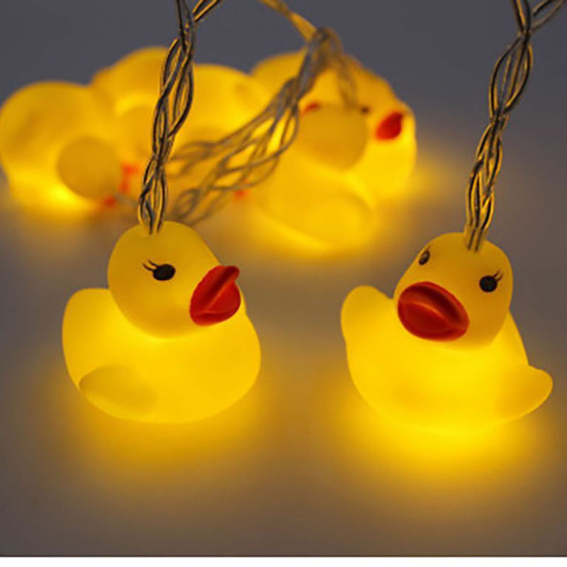 Christmas LED Pet Ducking String Light Battery Operated Fairy Lights 10 LED Fantastic Lights for Bedroom Baby Room Decoration