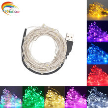 2M 5M 10M 20 50 100 LED USB LED String Lights for Xmas Garland Party Wedding Decoration Christmas Tree Flasher Fairy Lights(China)