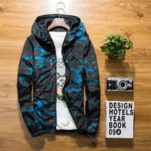 B XS-6XL new Spring Autumn Mens Casual floral Camouflage Hoodie Jacket Men Waterproof Clothes Windbreaker Coat Male Outwear