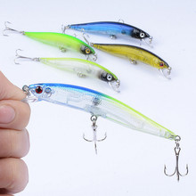 1Pcs Floating Minnow Fishing Bait Hard Lures 9.7cm/8.2g  Lifelike Sea Artificial Isca Wobblers Tackle With 6# Hooks