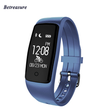 Betreasure S1 Smart Браслет Heart Rate Мониторы Водонепроницаемый Smart Band Фитнес Шагомер Спорт Смарт-браслет для IOS Android