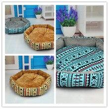 Hot Sale Paw Print Puppy Pets Dog Kitten Beds Soft Cat Dog Bed Cute Warm Litter Comfortable Beddings House Nest Fleece Litter