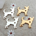 50pcs/lot A wide variety of dog Metal Charms for Jewelry DIY Making Gold color Chihuahua pendant for bracelet jewelry making