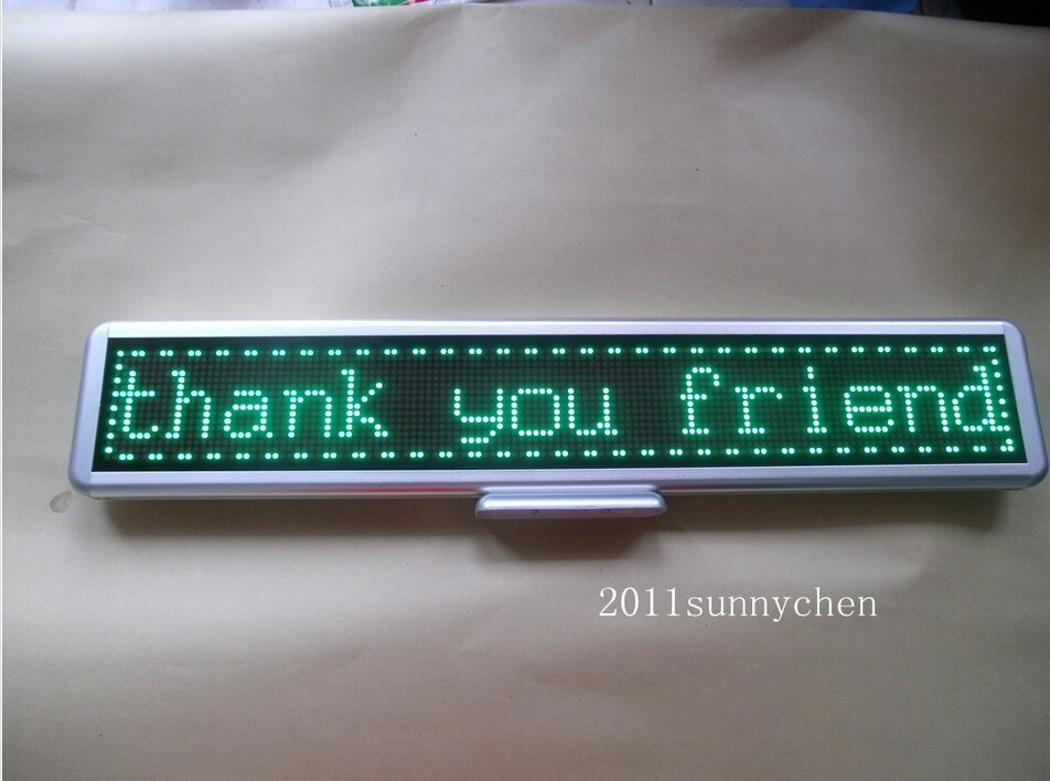 Green Programmable LED Moving Scrolling Message Display Sign Board 21x4