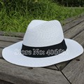 Summer Straw Sun Hats For Men Chapeu Masculino Panama White Wide Brim Women Beach Hats Free Shipping SDDS-002