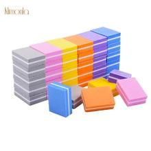 50pcs Colorful Nail File 100/180 Mini Nail Art Sanding Sponge Emery Board UV Gel Polish Files DIY Nail Buffing Tools пилка the saem nail emery board 1 шт