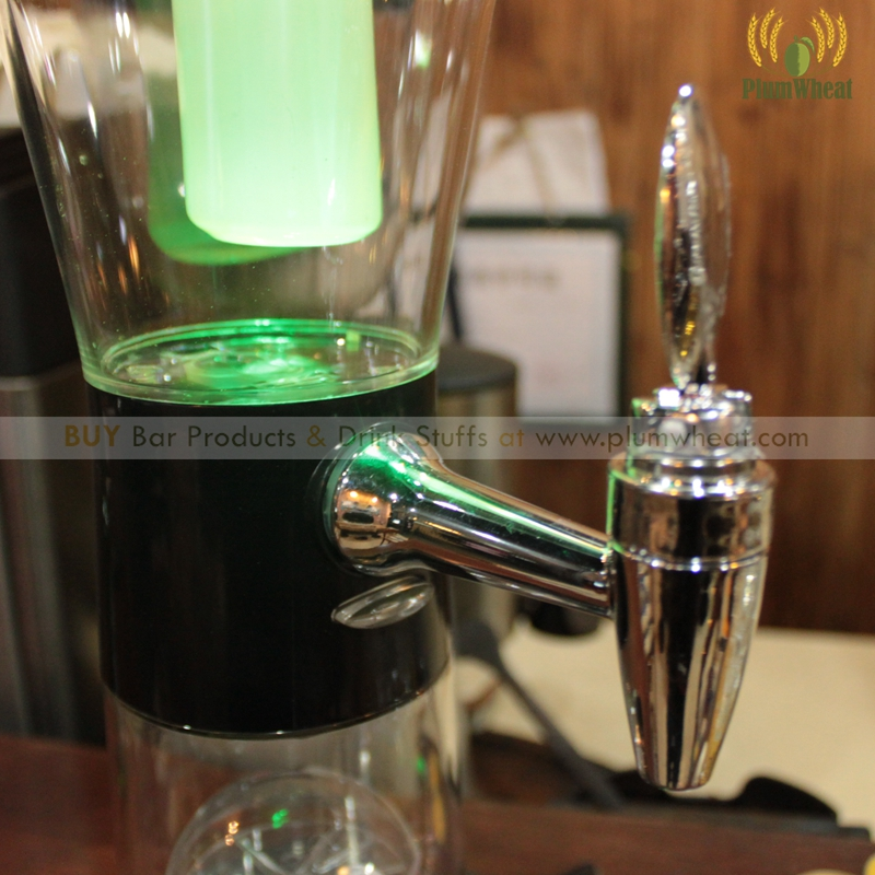 3 Liters Dice Game LED Beer Tower Dispenser BTB2G in Cocktail Snack Trays from Home Garden