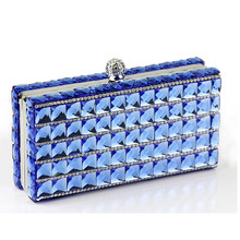 Woman Diamond clutch brand fashion handbag double imported glass drill elegant bride wallet diamond party bag casual evening bag