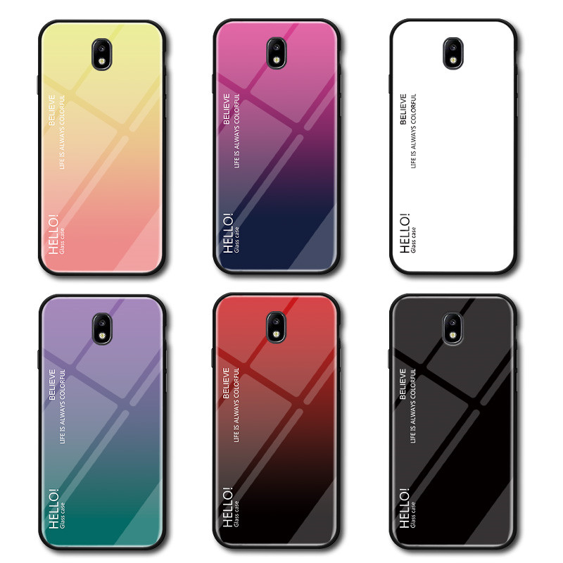 Tempered Glass Cases For Samsung Galaxy J3 2017 J5 J7 J330 J530 J730 Case For Samsung Galaxy J5 Pro/J3 Pro/J7 Pro Fundas Coque