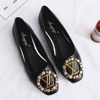 Women Shallow Single Shoes Candy Colors Rhinestone Ladies Shoes Large Sizes Free Shipping Comfortable Loafers Lazy Boat Flats