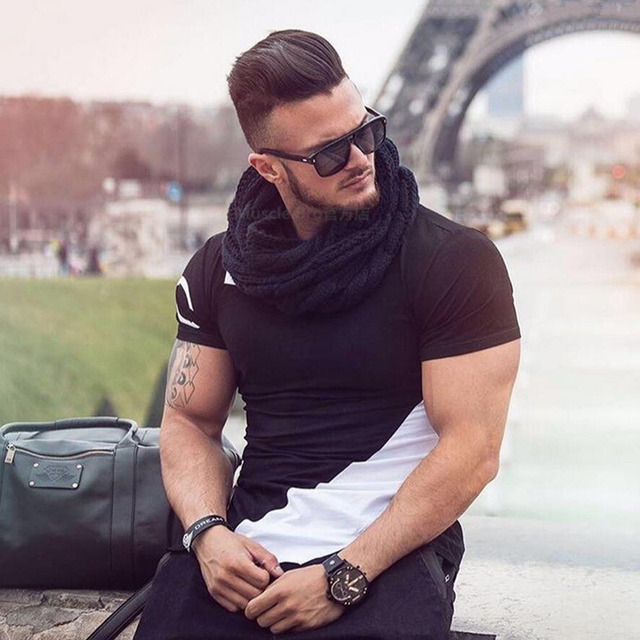 Buy Men Summer Style Fashion T Shirts Fitness And Bodybuilding Slim Fit T Shirt