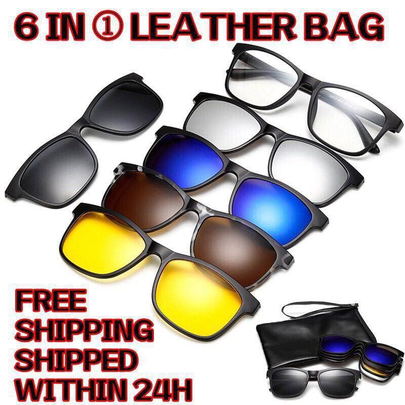 Ultra-light Polarized Clip On Sunglasses Men Women Magnetic Eyewear