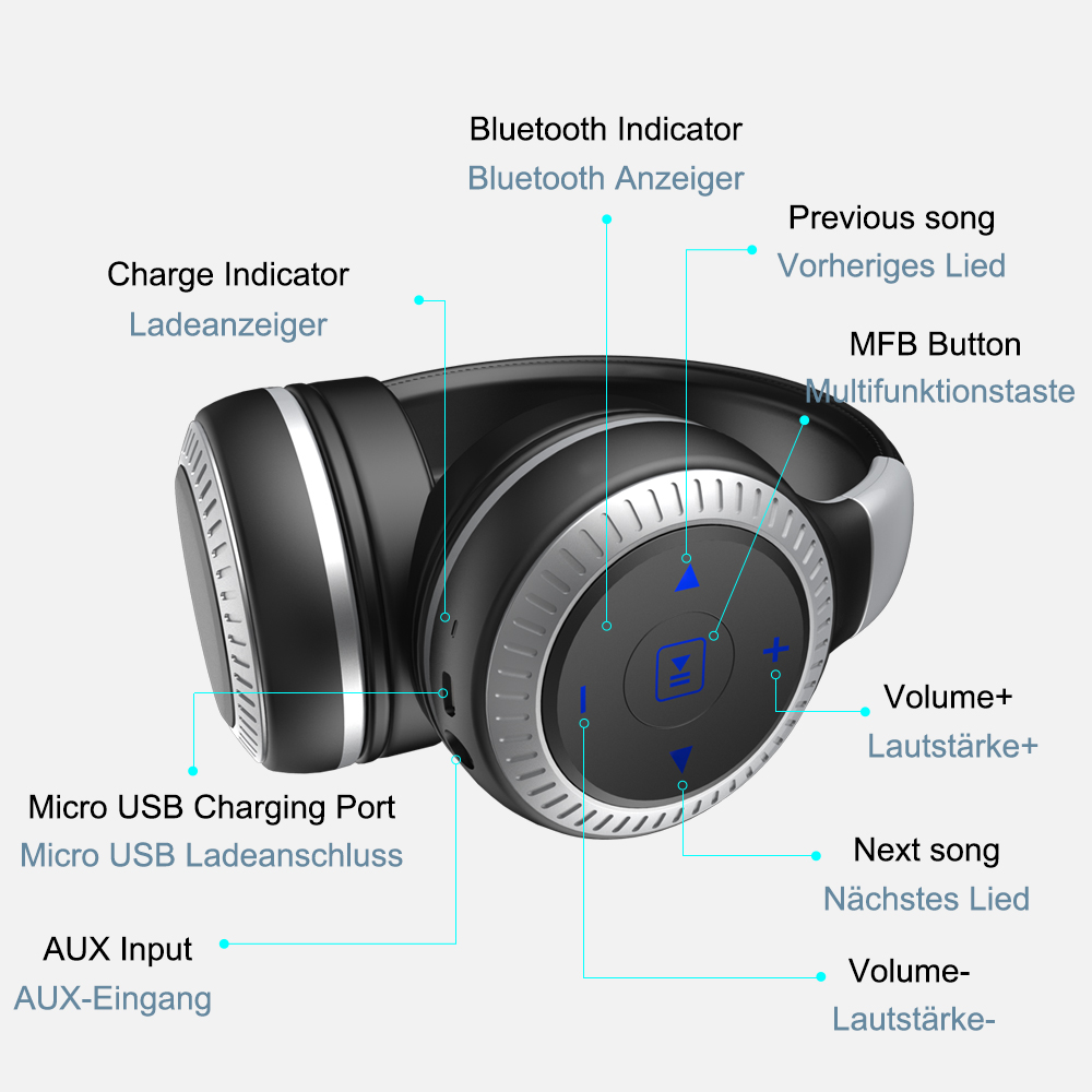 Zealot B20 Wireless Bluetooth Headphone Portable-7
