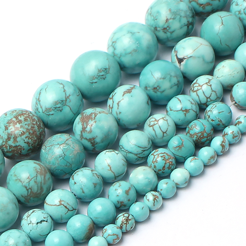 Natrual Stone Beads Turquoise Stone Beads For Jewelry Making Bracelet Necklace 4/6/8/10/12mm 15inches Diy JewelryNatrual Stone Beads Turquoise Stone Beads For Jewelry Making Bracelet Necklace 4/6/8/10/12mm 15inches Diy Jewelry