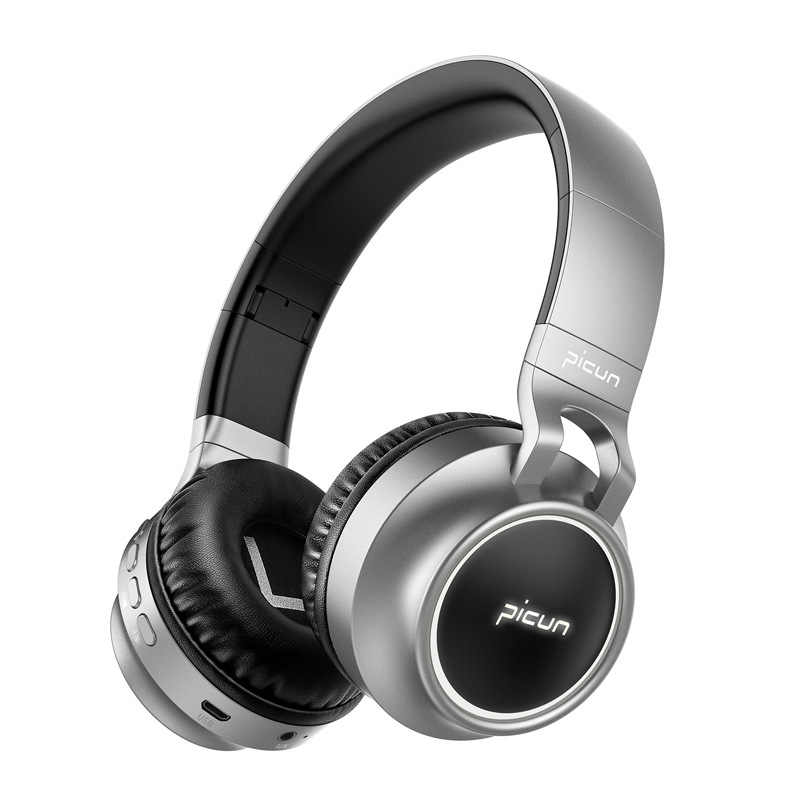 ea05142ceba ... Picun P60 Bluetooth Headphone Bass Wireless Headset 7 Colors Glow With  MIC Support TF Card For ...