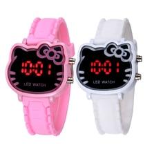 Новинка 2019 года; модные часы с рисунком кота; часы для девочек; детские наручные часы; Лидер продаж; Montre Enfant; Прямая доставка