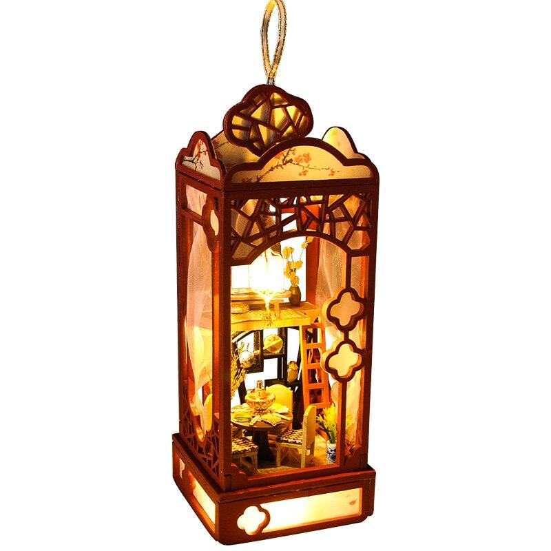 Diy casa de madeira miniaturas com móveis diy casa em miniatura brinquedos para crianças aniversário e natal presente tc7