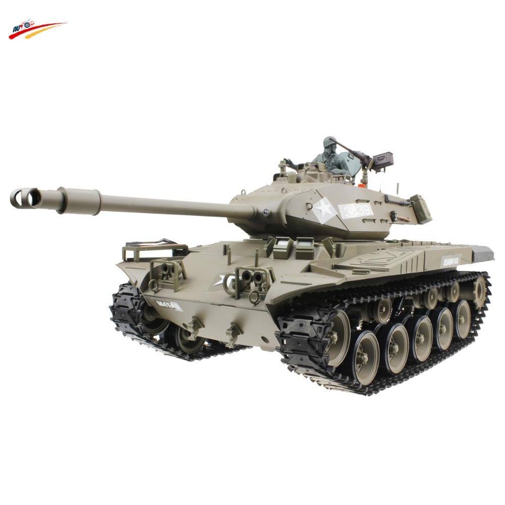 RC Tank 2 4G 1 16 US M41A3 Walker Bulldog Light Battle Tank with BB Smoking