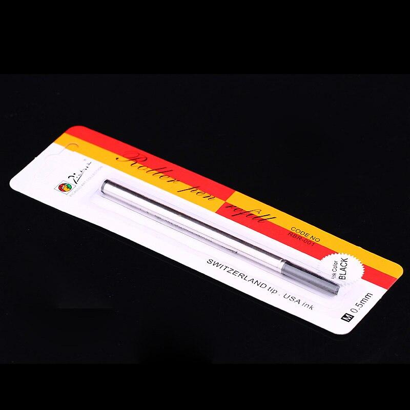 10 шт./лот Pimio Оригинал Черные Чернила Заправка для Ролика Шариковая Ручка Независимая Упаковка 0.5 мм Заправки Бесплатная Доставка