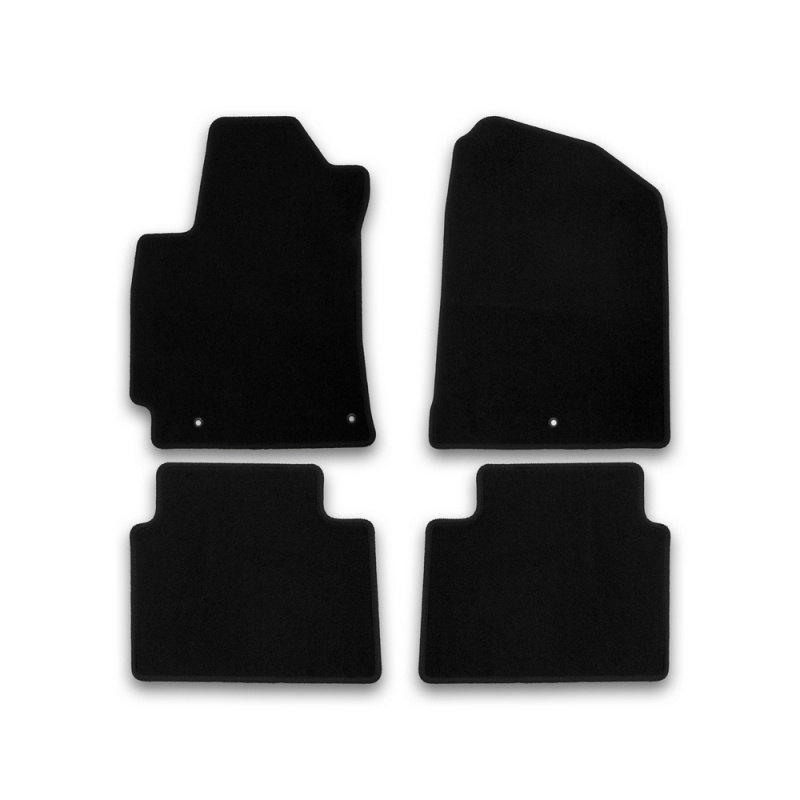 Mats in salon Klever Econom for HYUNDAI Elantra 2016-> сед... 4 PCs (textile) mats in salon klever premium for hyundai elantra 2014 2016 сед 5 pcs textile beige