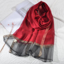 2019 Luxury Brand Women Silk Scarf Beach Shawl Echarpe Summer Solid Wrap Designer Scarves Long Female Stoles Bandana