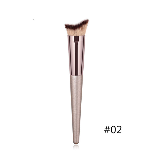 1PC Foundation Makeup Brush Coffee Handle Professional Facial Powder Eyeshadow Blush Eyebrow Lip Brush Large Soft Cosmetic Brush 2