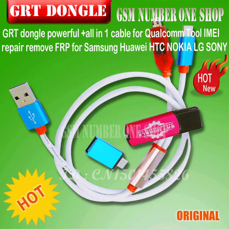 US $12 88 |GRT dongle KEY powerful +all in 1 cable for Qualcomm Tool IMEI  repair remove FRP for Samsung Huawei HTC NOKIA LG SONY oppo vivo-in Phone