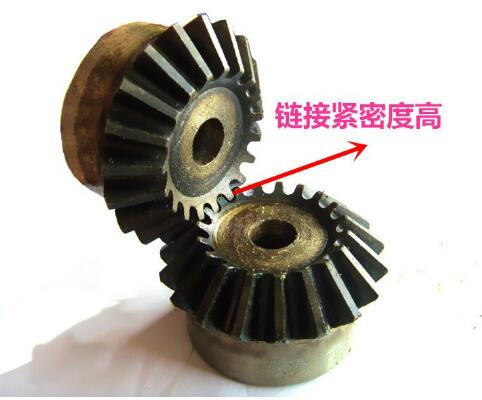 2 moudle 2m40 Metal bevel gear tooth surface quenching of <font><b>90</b></font> degrees one pair 2pieces <font><b>1:1</b></font> transmission image
