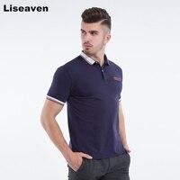 Liseaven 2017 мода новый дизайн сплошной цвет мужские поло с короткими рукавами Slim рубашка для мужчин топы
