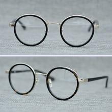 цены на Acetate Vintage Round Glasses Frame Men Brand Retro Optical Eyeglasses Women Clear Lens Small Glasses Spectacle Frames Eyewear в интернет-магазинах