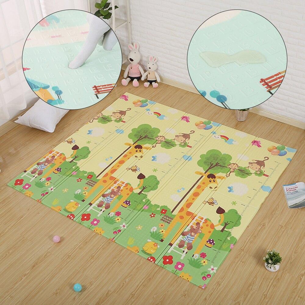 Épais Double côtés tapis pour enfants tapis de jeu imperméable enfants tapis tapis dans la pépinière tapis Puzzle bébé ramper tapis bébé cadeau