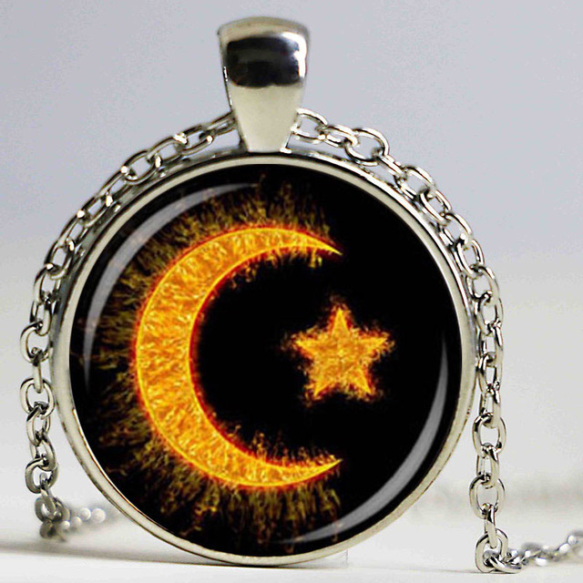 Wholesale glass dome cabochon new fashion crescent necklace islam wholesale glass dome cabochon new fashion crescent necklace islam diy jewelry islamic amulet religion pendant mozeypictures Image collections
