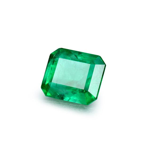 LOVERJEWELRY Natural Green Emerald Loose Gemstone For DIY Rings Pendants NGSTC Certificate Zambia Emerald Gemstone Fine Jewelry