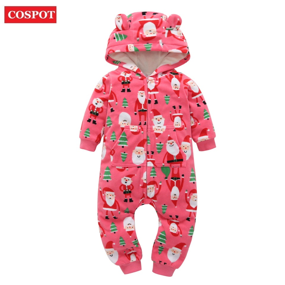 COSPOT <font><b>Christmas</b></font> Hooded Jumpsuit <font><b>Baby</b></font> <font><b>Girl</b></font> Boy <font><b>Clothes</b></font> Cartoon Long Sleeved Body Suits <font><b>Romper</b></font> for Newborns <font><b>Baby</b></font> Boys <font><b>Girls</b></font> 30 image
