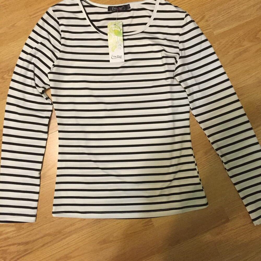 T-shirt Qadın Lady Tops Eliacher markalı Uzun Qollu Qadın T-shirt - Qadın geyimi - Fotoqrafiya 5